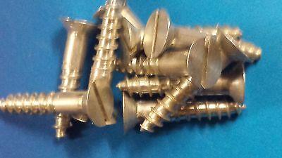 10 Holzschrauben Alu DIN97 4,5x25 Aluminium Igerit Modellbau Restaurieren Antik