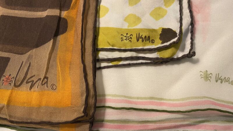 Vintage Vera Neumann Ladybug Scarves~Lot Of Three