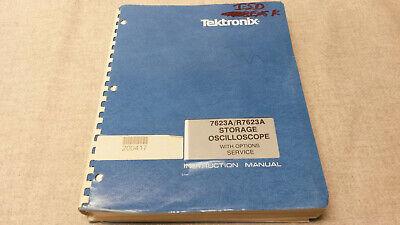 Tektronix 7623ar7623a Storage Oscilloscope Woptions Serviceuser Manual