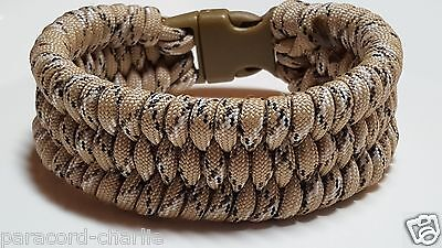 Desert Camouflage Trilobite Wide Weave Survival Wear Handmade Paracord Bracelet