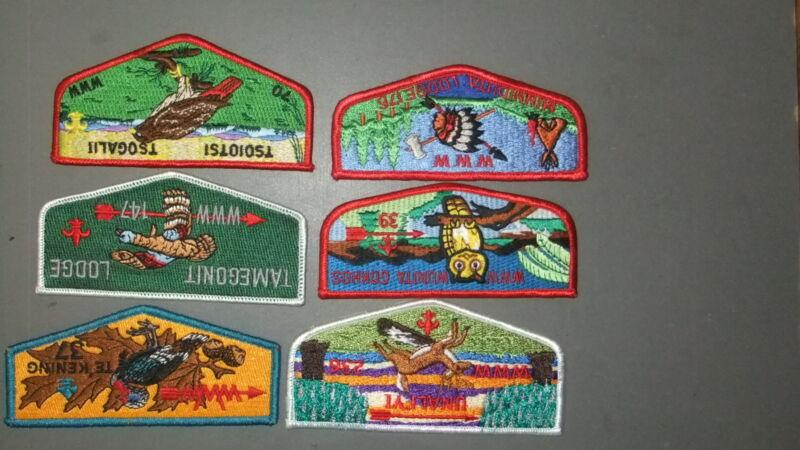 Boy Scout Lot of Six OA Flaps 7460II