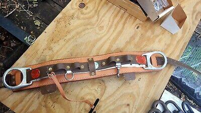 Buckingham Linemans 38 Belt Leg Spikes And Tool Pouch