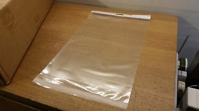 500 Quantity 229 x 330 x 40 (mm) 125mu Clear Sealing Poly Bags with Handle