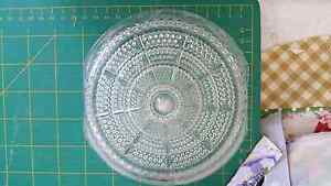 Clear vintage glass light shade saucer only Waratah Newcastle Area Preview