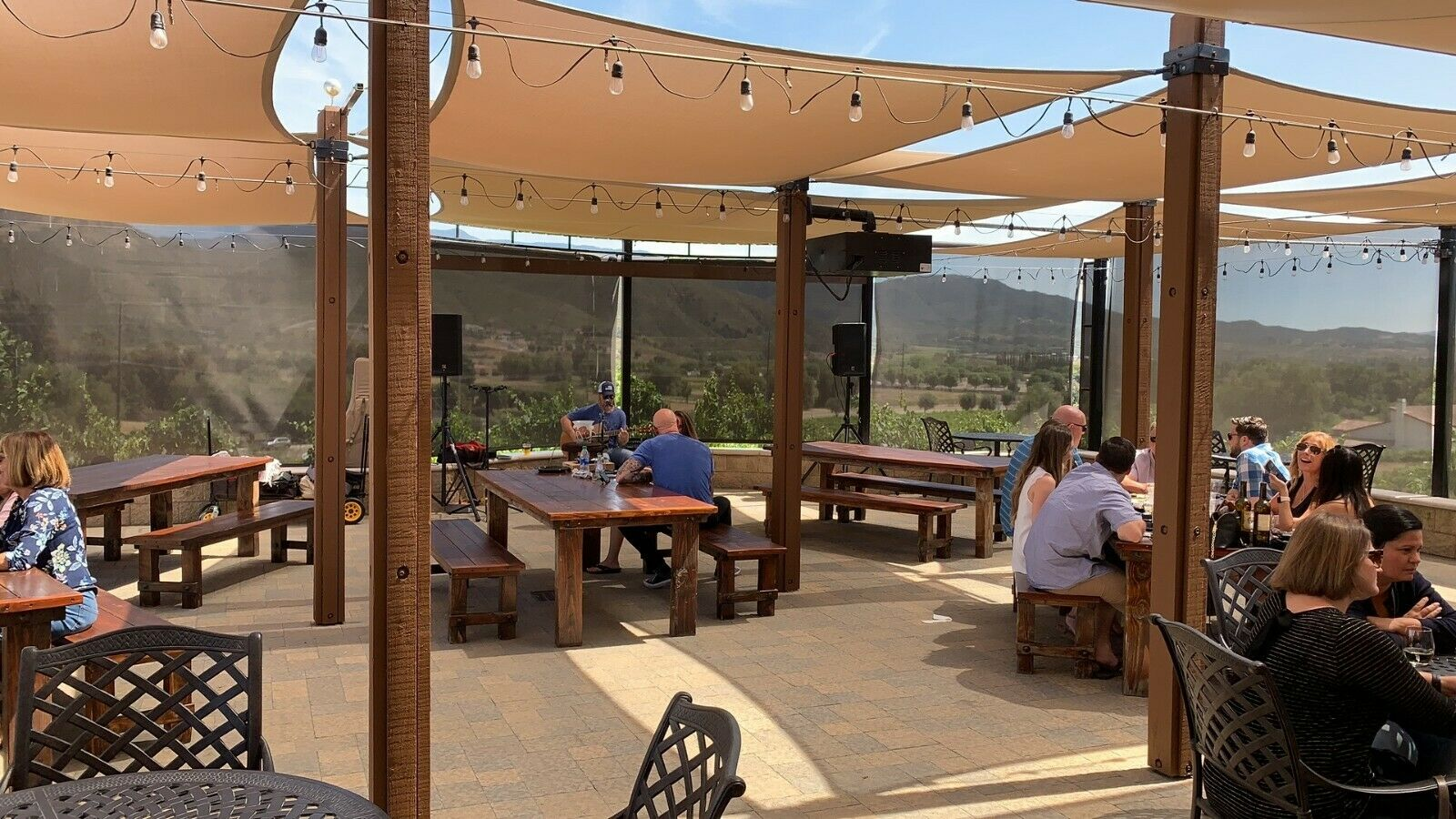 Patio Sun Shade Canopy UV Block Outdoor Cover for Backyard G