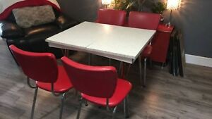 Retro kitchen table & chairs dining set