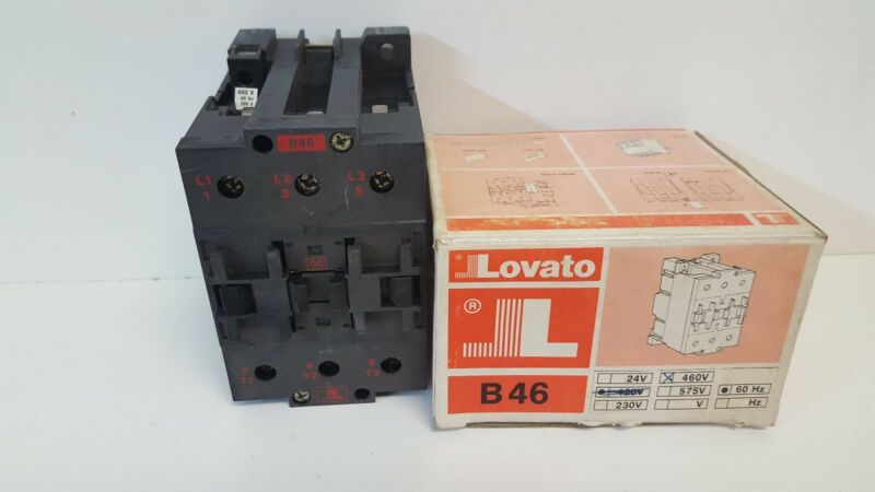 NEW OLD STOCK! LOVATO 90A 660V CONTACTOR TYPE B46 380/460V 50/60HZ COIL