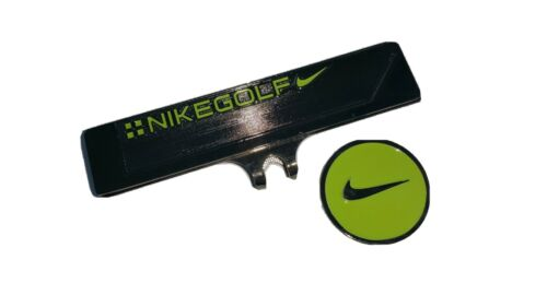 Brand New Nike Gun Metal and Green Golf Ball marker with hat