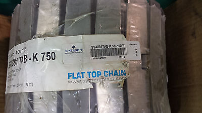 New Emerson Ssa881 Tabk750 Stainless Steel Conveyor Chain Belt Tabletop 10ft