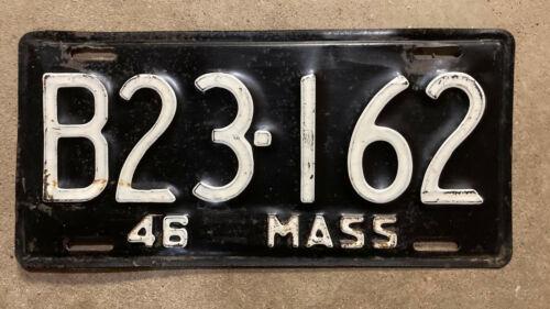Massachusetts truck 1946 license plate B23 162
