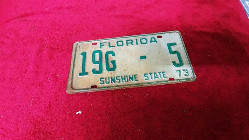 1973 Florida License Plate