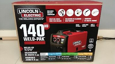 Lincoln Electric Weld Pak 140 Hd Mig Wire Feed Welder 140 Amp Up To 516 New