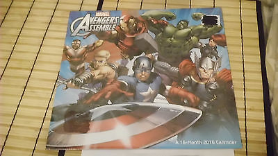Calendar 2015 2016 Marvel Avengers Assemble 16 Month Monthly Photos Sealed New