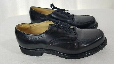 CAROLINA BRAND - Mens Black Saddle Oxfords Leather Shoes - Sz 9 -