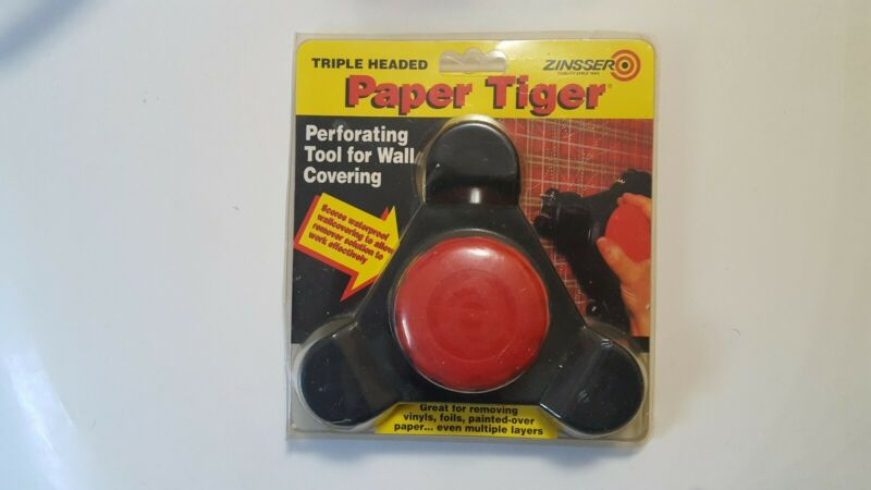Zinsser Paper Tiger triple headed perforated wall paper remover (new/sealed)