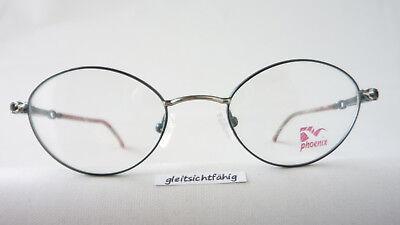 Leichte Brille für Damen aus Metall grün, Kunststoffbügel zierliche Form Gr. M