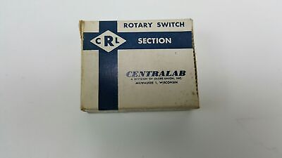 Centralab Ceramic Rotary Switch Section - Nos - Psd