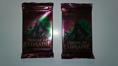 MTG Magic the Gathering Sealed 2x Throne of Eldraine Collectors Booster Pack