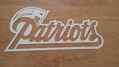 Patriots Car Sticker (New England Patriots 4 x 7 White Car Decal)