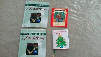 Christmas At Home Favorite Holiday Traditions books lot of 4 Stocking stuffers