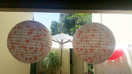 2 extra large cherry blossom paper LANTERNS  Maylands Bayswater Area Preview