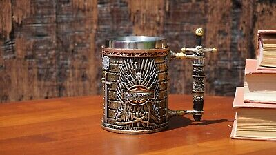 Game of  Thrones 3D Mug (Stainless Steel Cup and Plastic cover):