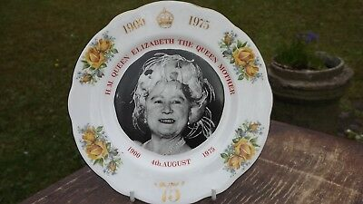 1975 Queen Mother 75th Birthday Plate Super Portrait Panorama Studios