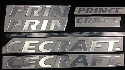"PRINCECRAFT Boats Emblem 33"" Epoxy Stickers Resistant to mechanical shocks"