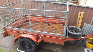 7x4 box trailer with removable cage Penrith Penrith Area Preview