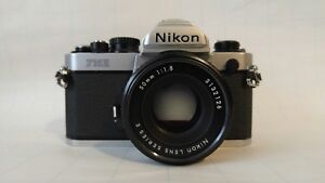 Nikon FM2n  35mm FIlm Camera with 50mm 1.8F lens in excellent shape