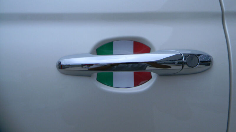 Italian Flag Car Accessory Door Handle Scratch Guards made in USA Fits All 4 pcs