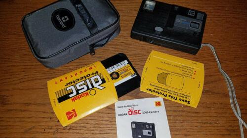 KODAK disc 3000 Camera Package- Camera booklets case strap film cartridge USED