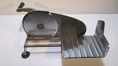 Vintage General Meat Slicing Machine Hand Crank Manual Model 50 Chrome Finish