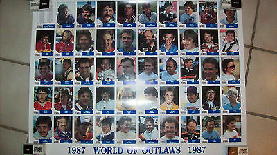 1987 World Of Outlaws Uncut Sheet w/Jeff Gordon's 1st card Rare only 300 made