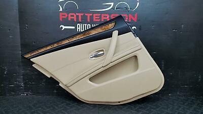 2008 BMW 528I REAR DRIVER LEFT LH POWER INSIDE INTERIOR DOOR TRIM PANEL TAN BA