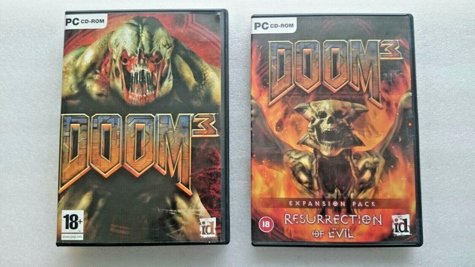 Doom 3 Plus Resurerection Of Evil Expansion Pack (PC: Windows, 2004)