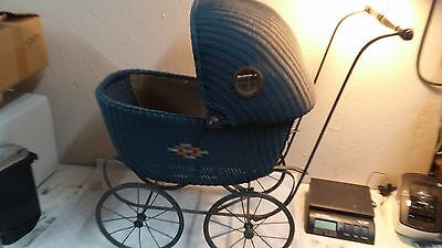 Antique/Vintage WICKER BABY CARRIAGE, Buggy, Pram