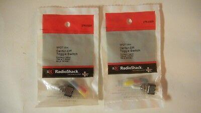 2 Radioshack Spdt Mini 10a125vac Center-off Toggle Switch 275-0325 - Nip