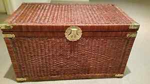 Brown Cane Wicker Rattan blanket box/camphor chest Toy Chest Stor Deer Park Brimbank Area Preview