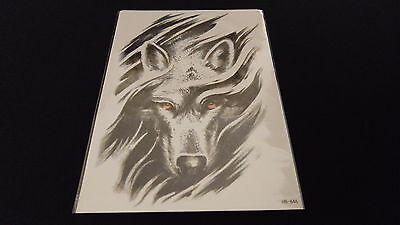 Wolves Series Wolf Shepherd Dog Face TEMPORARY HENNA TATTOO Waterproof Transfer