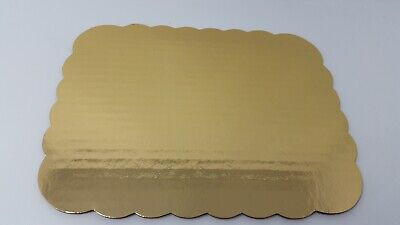 Corrugated Cake Board (Gold Eighth Sheet Cake Board/Pad Rectangle Corrugated Greaseproof Lot of)