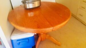 Solid wood dining table (kitchen table)