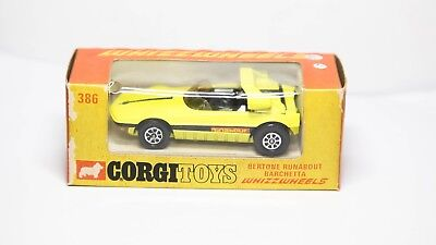 Corgi 386 Bertone Runabout Barchetta In Original Box - Nr Mint Vintage Original