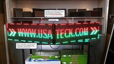 2 Full Color Led Sign 37 X 13 Outdoor Programmable Master-slave Usa