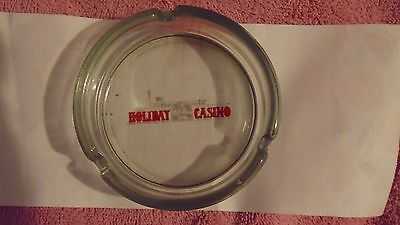 Rare Vintage Holiday Casino Inn River Boat Las Vegas Nevada Smoke Glass Ashtray