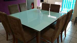 8 Seat Glass/Stainless Steel Dining Set North Geelong Geelong City Preview