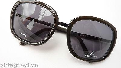 Rodenstock schwarze/braun XL Sonnenbrille für Damen dunkle graue Tönung Grösse L ()