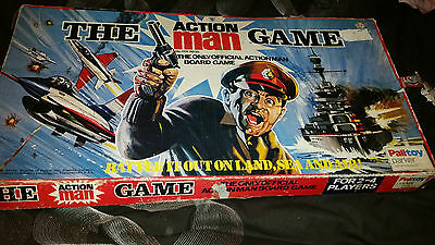 THE ACTION MAN GAME - ORIGINAL 1970 VINTAGE ADVENTURE BOARD-GAME - BY PALITOY