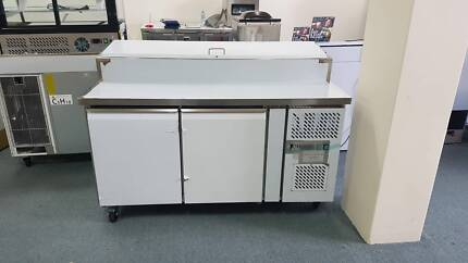 Polar Counter 2 Door Fridge With Upstand 282 Ltr Commercial Under