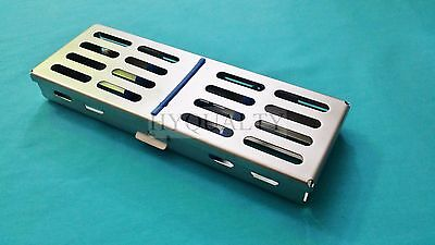Surgical Dental Autoclave Sterilization Cassette Tray Box For 5 Instruments